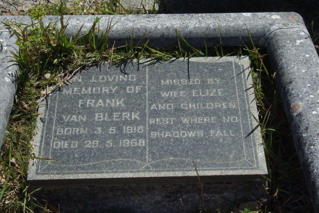 Frank van Blerk 1918-1968