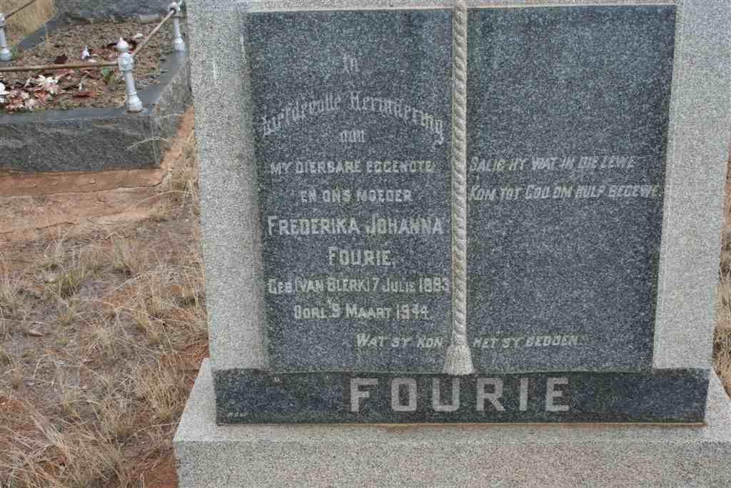 Frederika Johanna Fourie 1883-1944