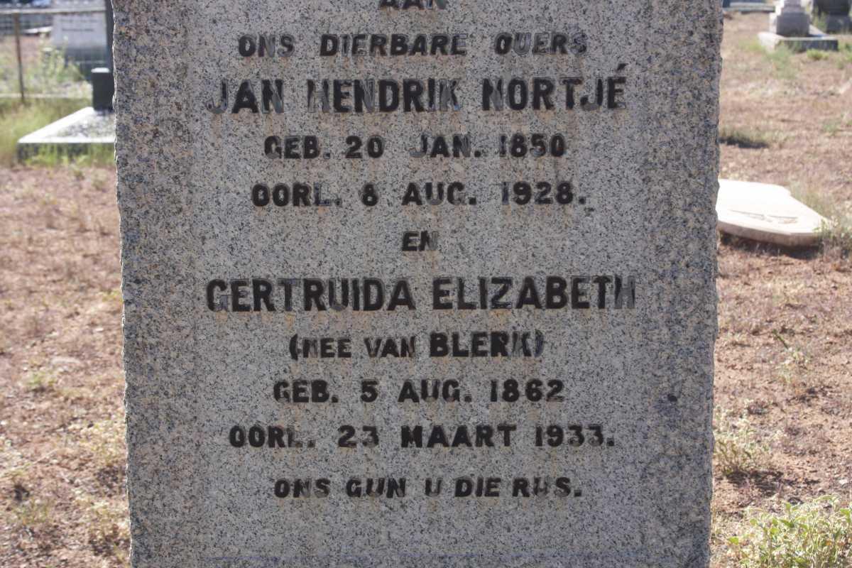 Gertruida Elizabeth Nortje 1862-1933