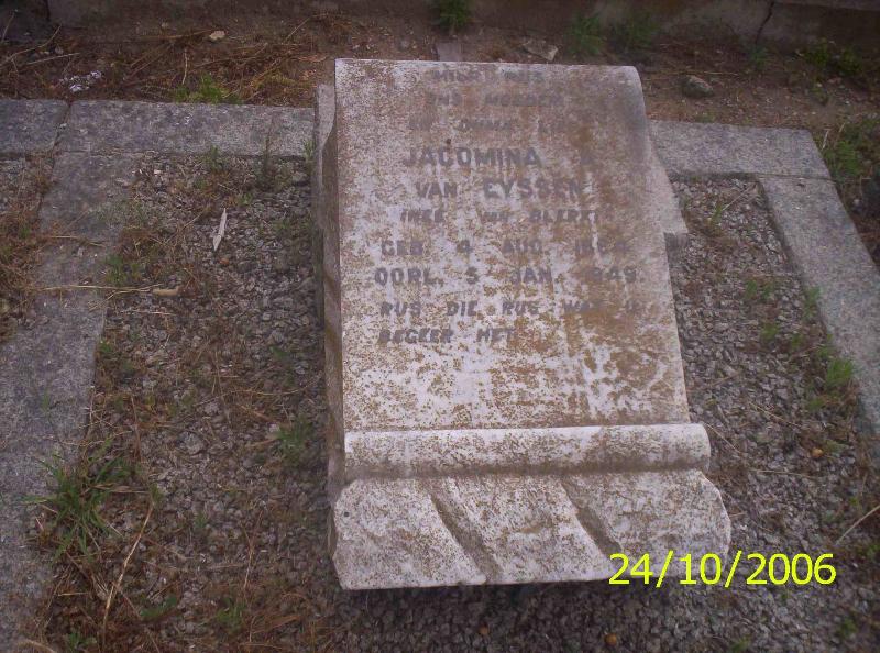 Jacomina A Eyssen 1864-1949