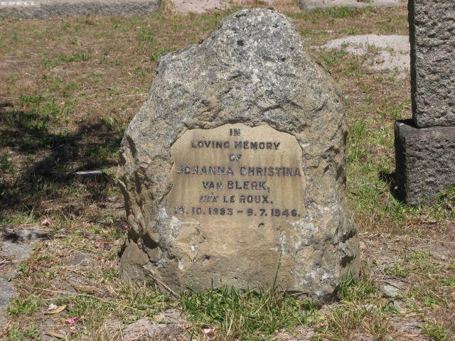 Johanna Christina Le Roux 1883-1946