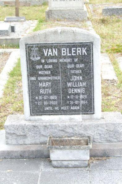John William Dennis van Blerk 1926-1964