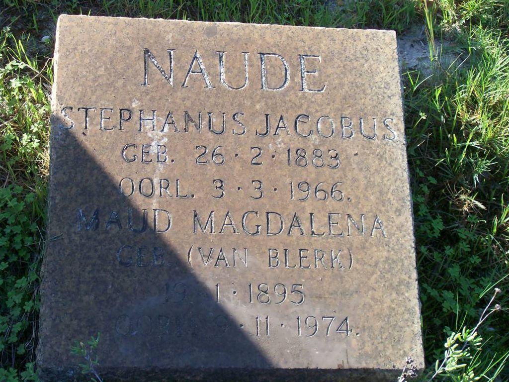 Maud Magdalena Naude 1895-1974