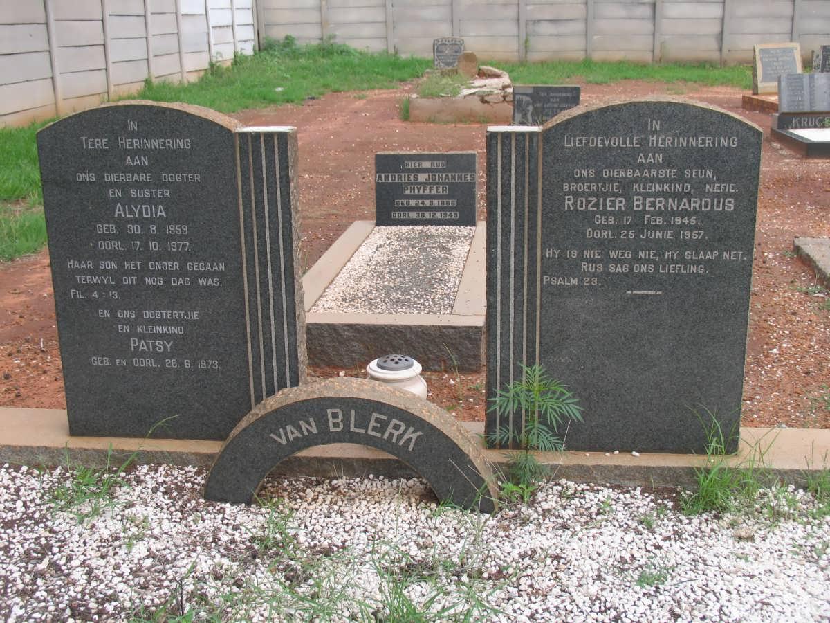 van Blerk family grave 1945-1977