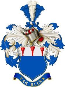 Van Blerk Family Crest